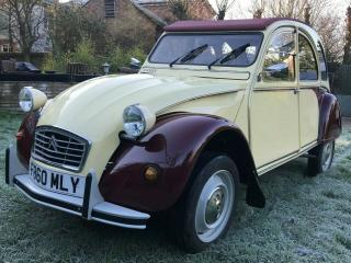 Citroen 2CV Dolly Plums and Custard superb condition on Galvanised chassis