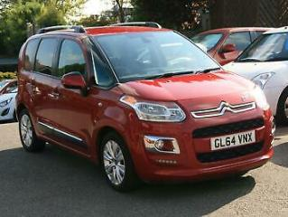 Citroen C3 Picasso 1.6TD 90bhp 2014.5MY Exclusive,MET RED 37K,HISTORY,AC