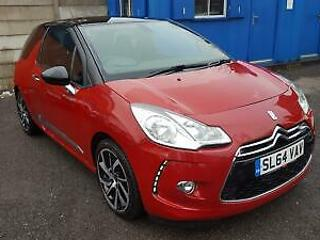 Citroen DS3 1.6e HDi 90bhp Airdream DStyle Plus 3dr 2014 64 Red 31k Cat D