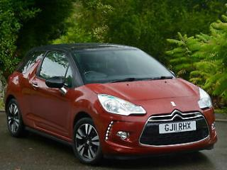 Citroen DS3 1.6HDi 90 99g DStyle 2011 Red LOW MILEAGE