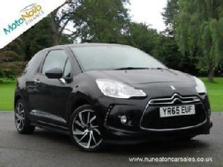 CITROEN DS3 PureTech 110 Start Stop DStyle Nav Black Manual Petrol, 2015