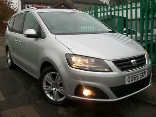 DEC15 65 Seat Alhambra 2.0TDI 150ps s/s Ecomotive SE Silver diesel manual