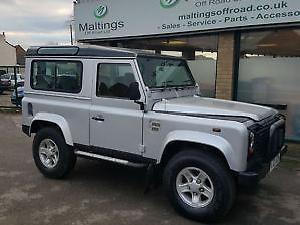 Defender 90 TD5 County station wagon in silver