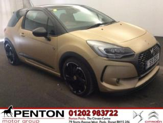 DS DS 3 1.6 THP Performance BRM Chronographes s/s 3dr 210 hp SAT NAV LOW MILES Hatchback 2017, 4000 miles, £18990