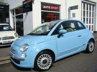 Fiat 500 0.9 Lounge, 2012 with 50k Miles, Stunning in Azzurro Blue with Sunroof