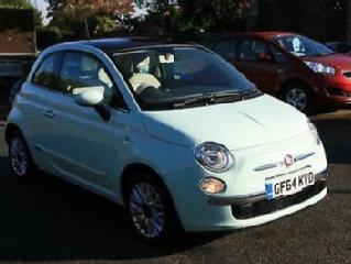 Fiat 500 1.2 69bhp 2014MY LOUNGE PAN ROOF,LATE DASH,26K 1 LADY OWNER