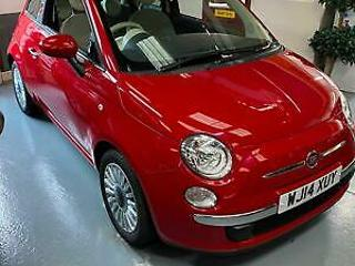 Fiat 500 1.2 69bhp 2014MY LOUNGE,RED PAN ROOF,9K,HIST,AC,ALLOYS