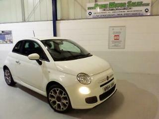Fiat 500 1.2 S 69bhp BOSSA NOVA WHITE,HALF LEATHER,LOW INS,£30 ROAD TAX,65+MPG