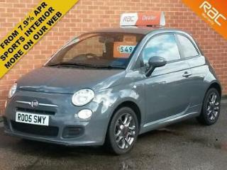 FIAT 500 1.2 S GREY WITH BLACK SPORTS INTERIOR, CHEAP TAX, FULL MOT SERVICE