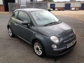 FIAT 500 LOUNGE 1.2 2012 GREY 45000 MILES 1/2 LEATHER FIRST CAR BARGAIN!