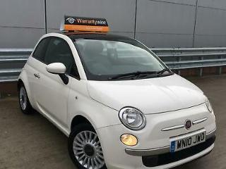 FIAT 500 LOUNGE 1.2 PETROL WHITE *LOW MILES*PAN ROOF LONG MOT.WARRANTY/SERVICE