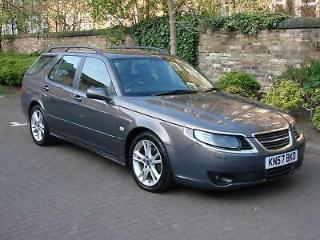 FINANCE AVAILABLE! 57 REG SAAB 9 5 2.3 HOT AERO AUTO 260 BHP, RARE MODEL
