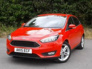 FORD 1.0 ECOBOOST 125PS ZETEC 5DR RED