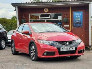 HONDA CIVIC 1.6 I DTEC SE PLUS 5DR DAB, PREMIUM AUDIO 2014 Diesel Manual in Red