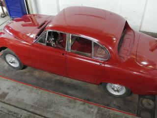Jaguar Stype Restored and Painted Rolling Shell with Wire Wheels