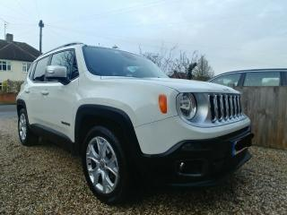 Jeep Renegade Limited White SUV 66 Excellent condition Warranty to 30/09/19