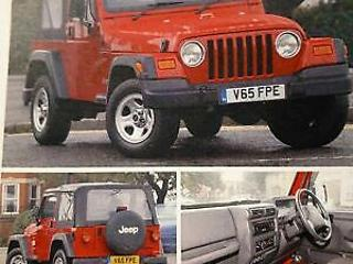 JEEP WRANGLER 2.5 SPORT 4WD 2000/V + PRIVATE PLATE