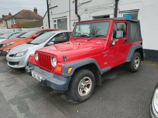 JEEP WRANGLER 4.0.LPG 2001 Y RED DRIVE AWAY SPARES/REPAIR MOT WILL BE 2021