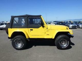 Jeep Wrangler 4.0 manual sport yellow jap import due in january