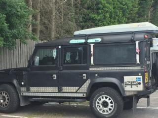 Land Rover 110 travel prepared