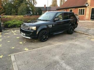 LAND ROVER RANGE ROVER SPORT SDV6 AUTOBIOGRAPHY SPORT WITH BLACK AND IVORY LEATH