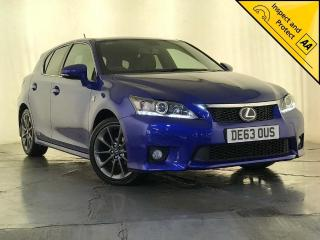 Lexus CT 200h 1.8 F Sport CVT 5dr SERVICE HISTORY CRUISE CONTROL 2013, 74060 miles, £9795
