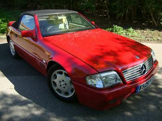 Mercedes SL 300 R129 1992 3.0 Auto Red Convertible Sports Car Cabriolet Hardtop