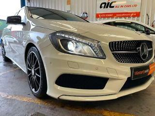 2015 White Mercedes Benz A220 2.1CDI 170ps 7G DCT AMG Night Edition