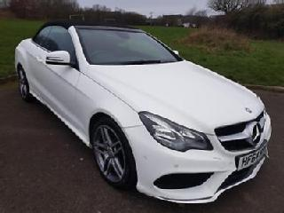 MERCEDES BENZ E CLASS 220 AMG 7SPEED AUTO, DIESEL, CONVERTIBLE, WHITE, 2014