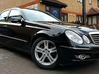 MERCEDES BENZ E CLASS E280 3.0 ADVANTGARDE 2007 BLACK HALF LEATHER FOLDING MI