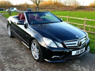 Mercedes E350 CGI Sport Convertible, Distronic+, Airscarf, FSH and 35000 miles