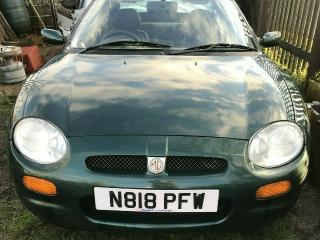 mg mgf 1.8i vvc mk1 N reg 1996 for spares or repair