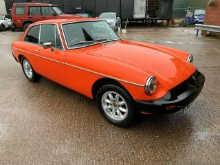 MGB GT 1978 MG B GT orange easy winter project light recomissioning