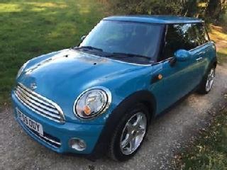 Mini 1.6 D Cooper Chilli, 2010 59 in Oxygen Blue with Black Half Leather Seats