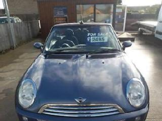 MINI CONVERTIBLE COOPER Blue Manual Petrol, 2005, in great shape