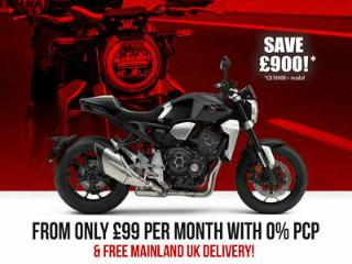 NEW Honda CB1000R PLUS+. Save £900 & ONLY £99x24 with 0% APR PCP. £11,399