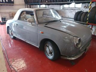 Nissan Figaro Lapis Grey 90k 1 litre turbo Auto, Selling with MOT Winter Project
