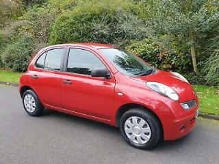 NISSAN MICRA 1.2 16v VISIA 5 DOOR 2009 RED *LOW MILES