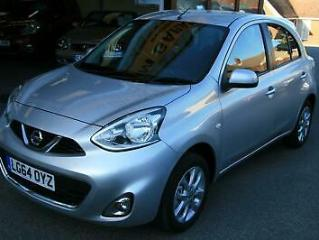 Nissan Micra 1.2 80ps Connect 2013MY Acenta,SILVER,63K,SAT NAV,AC,NICE CAR