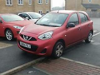Nissan Micra 1.2 Visia 2014 64 reg 5 door metallic cherry red ONLY 15k miles