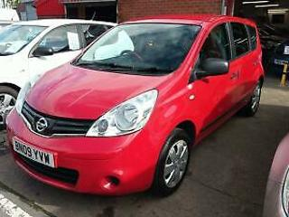 NISSAN NOTE 1.4 VISIA BRIGHT RED 80K MILES 2 KEYS HISTORY 2 PREV OWNERS 2009
