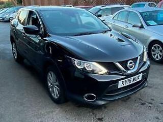Nissan Qashqai 1.5dCi 110ps Acenta+BLACK,HIST,47K,FREE TAX,PAN ROOF, CAMERA