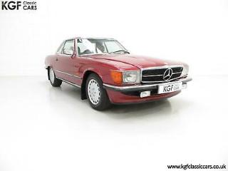 One of the Last Made, A Mercedes Benz 300SL R107 with Just 8,983 Miles from New