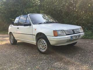 Peugeot 205 1.4 CJ convertible in White