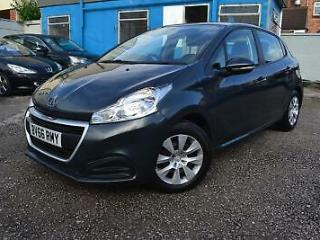 Peugeot 208 1.0 5 door petrol hatch,manual,grey cheap tax and insurance