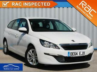 Peugeot 308 1.6 Blue Hdi S/S Sw Active 2015 64 • from £33.26 pw