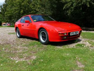 Porsche 944 2.5 Guards Red, brown interior very clean & dry