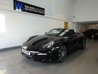 Porsche Boxster S 3.4 315bhp PDK Black metallic, Black Leather, Black Roof