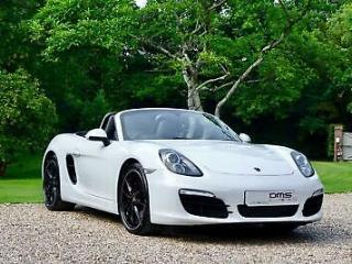 Porsche Boxster S 3.4 PDK 315bhp 981 in Gloss White with Black Leather