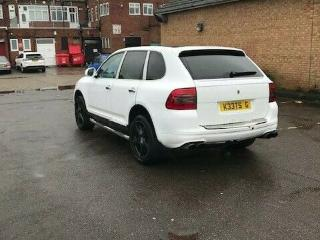 Porsche cayenne 4.5s V8 with gambella exhaust wrapped in white